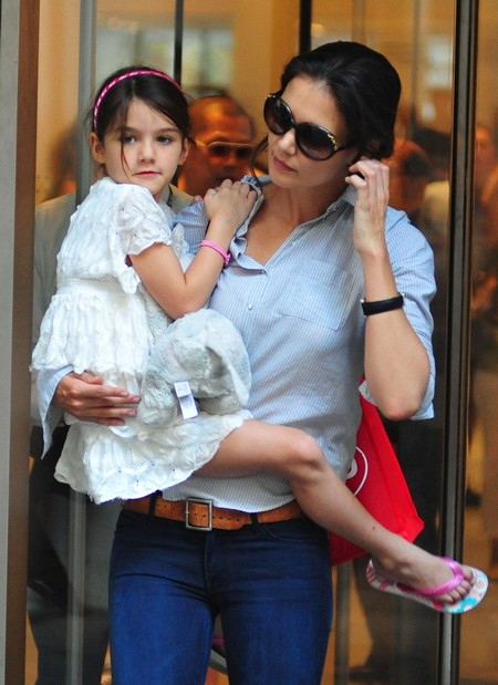 Katie Holmes Is Thrilled Suri Is Back As They Head To A Day at MOMA (Photos)