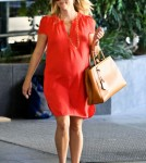 Pregnant Reese Witherspoon Leaving The Doctor After A Check Up (Photos)
