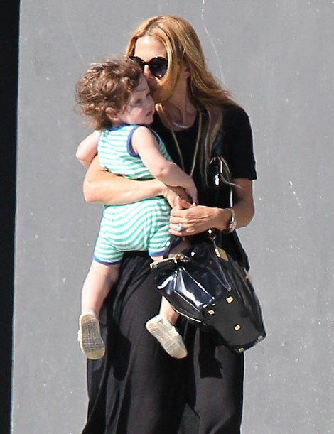 Rachel Zoe And Son Skyler Doing Errand In West Hollywood (Photos)