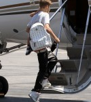 Justin Bieber Takes Flight With His Family