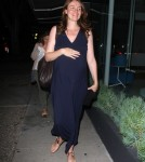Pregnant Law & Order Star Saffron Burrows Dines For Two At Madeo (Photos)