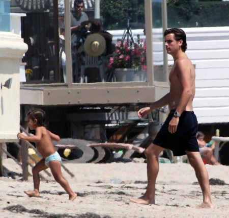 Scott Disick And Mason Disick Show Off Their Tans On The Beach In Miami 0805