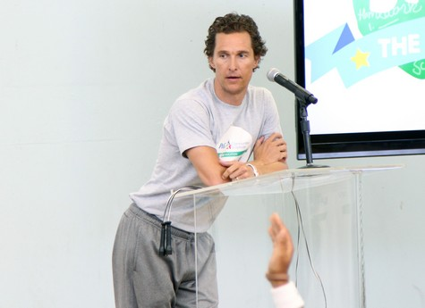 Matthew McConaughey During The P&G GIVE Education Campaign