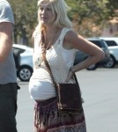 Exclusive... Pregnant Tori Spelling And Family Out For Lunch In Los Angeles