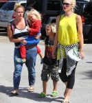 Gwen Stefani & Hubby Gavin Rossdale Take The Kids To The Science Museum (Photos)