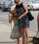 Michelle Williams Takes Matilda Ledger Shopping For Eye Glasses