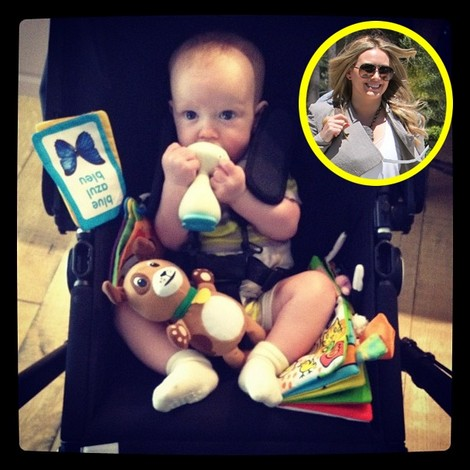 Hilary Duff's Son Luca Is Getting His First Tooth
