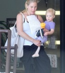 Christina Applegate and her daughter Sadie stopping by a Health And Wellness center while out running errands in Sherman Oaks, California on August 22, 2012.
