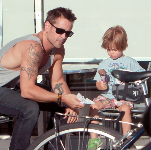 Cute Daddy Alert: Colin Farrell Takes Henry For An Icecream