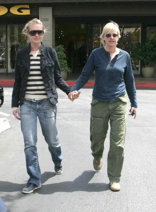Ellen Degeneres and Portia De Rossi out at the Brentwood Glen Market Place in Los Angeles, CA 04-15-07 Los Angeles, CA