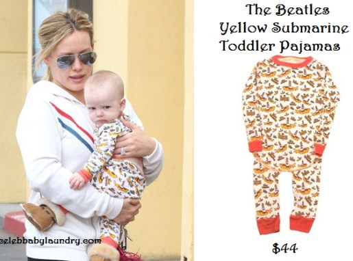 Hilary Duff - Luca Cruz Comrie - Celeb Baby Style - The Beatles Yellow Submarine PJ