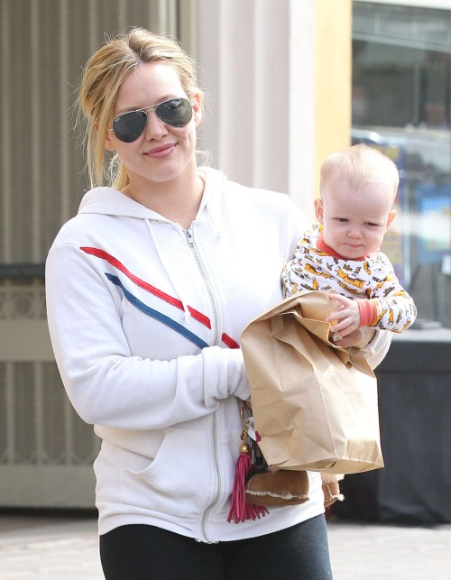Hilary Duff and son Luca stop by a mall to do a bit of shopping in Sherman Oaks, California on August 25, 2012. Afterwards they stop by a farmers market to pick up some groceries in Beverly Hills