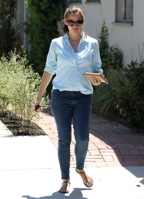 """The Odd Life of Timothy Green"" actress Jennifer Garner was out and about in Los Angeles, California on August 29, 2012."