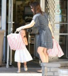 Jennifer Garner spent the day with daughter Seraphina after dropping off Violet at a birthday party in Brentwood, California on August 26, 2012.