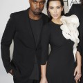 "Reality star Kim Kardashian and her ""Can't Tell Me Nothing"" rapper boyfriend Kanye West attend the Stephane Rolland Fashion Show as part of Paris Fashion Week on July 3, 2012 in Paris, France."