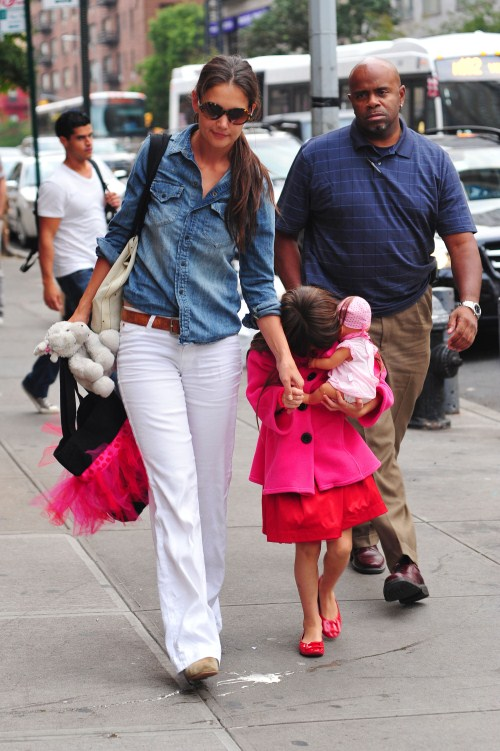 Katie Holmes & Suri Cruise Spend Day At Activity Center