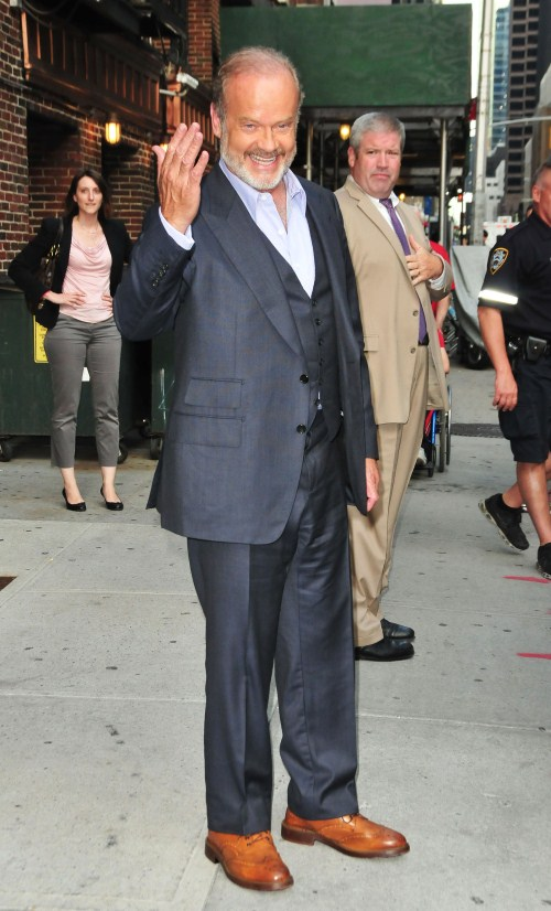 Actor Kelsey Grammer stops by the David Letterman Show in New York City, New York on August 20, 2012.