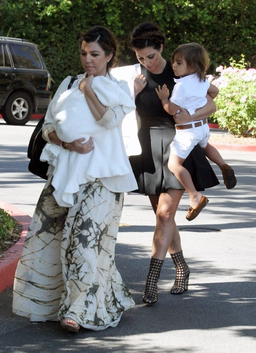 Kourtney & Kim Kardashian's Family Church Day