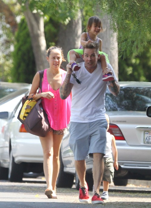 Mark McGrath Parties With His Twins