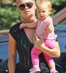Pink and Carey Hart spotted out with their daughter Willow in New York City, New York on July 11, 2012.