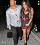 'Jersey Shore' star Nicole 'Snooki' Polizzi and her boyfriend Jionni LaValle out for dinner at the STK restaurant in West Hollywood, CA...