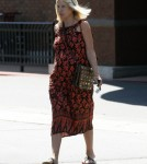 "Pregnant ""Craft Wars"" host Tori Spelling did some grocery shopping at a local Gelson's Market in Los Angeles, California on August 19, 2012 with out make up. She is expecting her fourth child later this year."