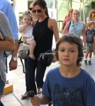 Victoria Beckham was seen leaving Giggles N' Hugs restaurant after a birthday party with daughter Harper in Century City, California on August 26th, 2012.