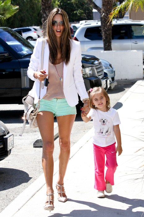 Alessandra Ambrosio and her daughter Anja were all smiles while they stopped by PetCo in Los Angeles, CA on September 24th, 2012.