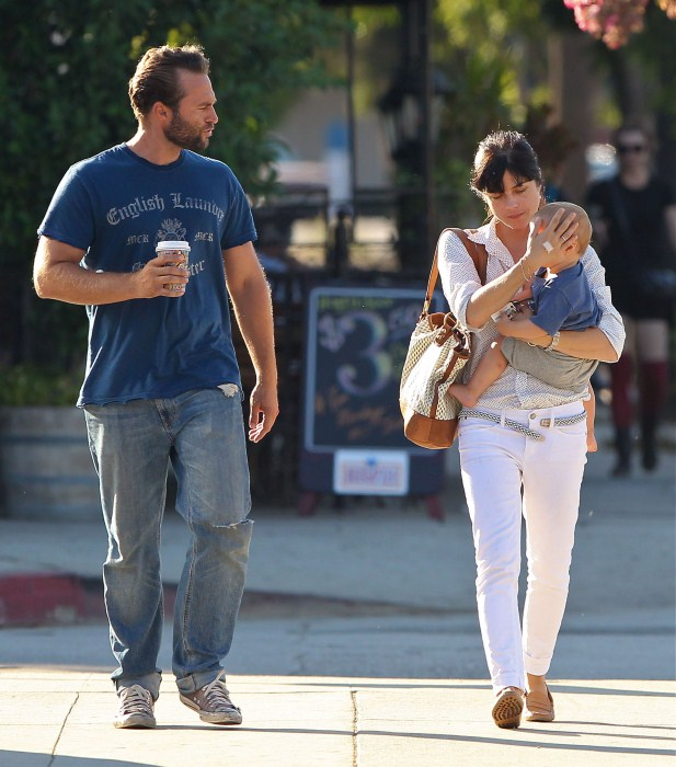 Selma Blair and her son Arthur spotted out with a friend in Studio City, California on September 17, 2012.