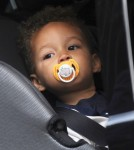 Alicia Keys and her son Egypt leave the ITV studios in London, England on September 26, 2012.