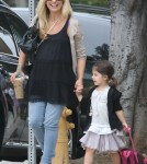 Sarah Michelle Gellar dropping her daughter Charlotte off at school in Beverly Hills, California on September 12, 2012.