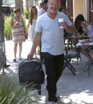 Actor Kelsey Grammer, his wife Kayte Walsh and their daughter Faith seen leaving the Coffee Bean And Tea Leaf after getting a coffee in Beverly Hills, California on September 16, 2012.