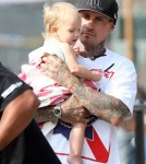 Pink and husband Carey Hart spotted out with their daughter Willow in New York City, New York on September 17, 2012.