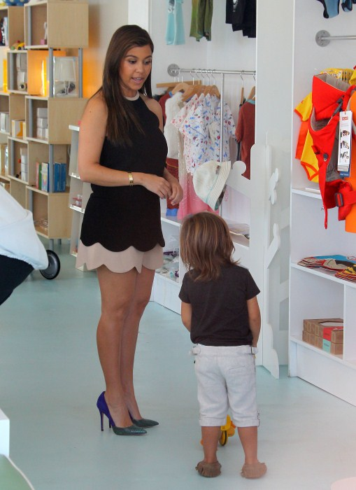Kourtney Kardashian And Son Mason Do Some Shopping