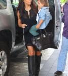 Reality stars Kim, Khloe, Kourtney Karadashian and her kids Mason and Penelope arriving at their hotel in Miami, Florida on September 15, 2012.