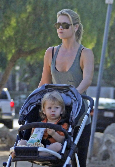 Ali Larter and her son Theodore out for a walk at Runyon Canyon in Hollywood, California on September 25th, 2012.