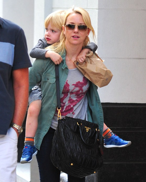 Naomi Watts Spends A Big Apple Day With Her Boys