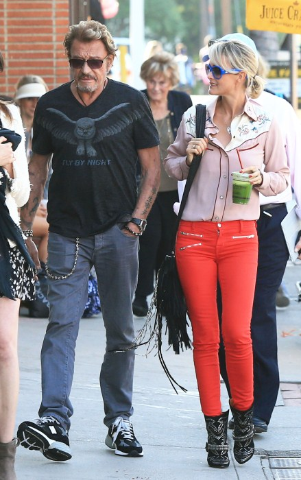 Johnny Hallyday Out And About With Family In Pacific Palisades