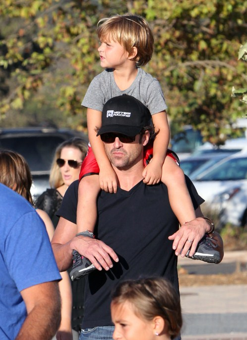 """""""Grey's Anatomy"""" actor Patrick Dempsey enjoyed a day at the fair with his family in Malibu, California on August 31, 2012."""