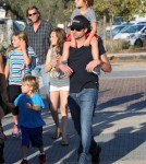 """Grey's Anatomy"" actor Patrick Dempsey enjoyed a day at the fair with his family in Malibu, California on August 31, 2012."