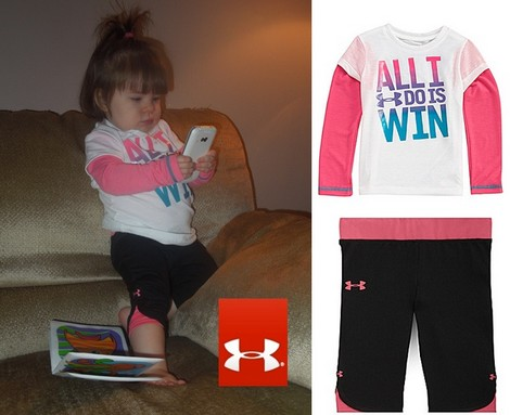 What's Ava Wearing Today?  Slider Tee & Sporty Capri Pants From Under Armour