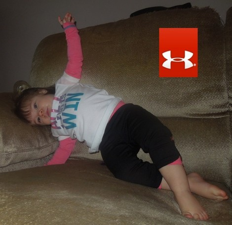 What's Ava Wearing?  Under Armour Slider Tee & Sporty Capri Pants