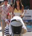 'Victoria's Secret' model Alessandra Ambrosio spends the day with her family in West Hollywood, CA on September 18th, 2012.