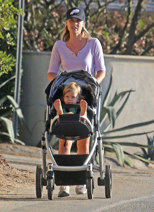 Ali Larter Hikes With Her Little Man