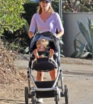 Ali Larter and her son Theodore out for a walk at Runyon Canyon in Hollywood, California on September 19, 2012.