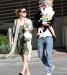 Amy Adams and her fiance, Darren Le Gallo, took their daughter Aviana Le Gallo on a shopping trip to Pavilions market in Beverly Hills, California on September 29, 2012.