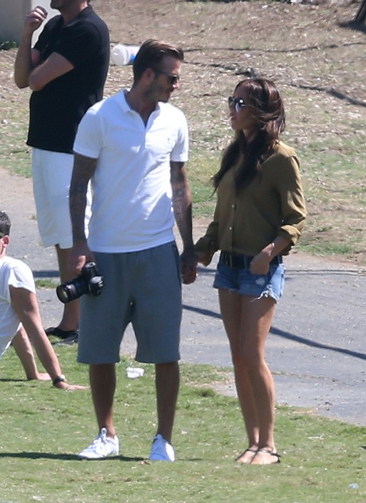 Cute Daddy Alert: David Beckham's Family Soccer Sunday
