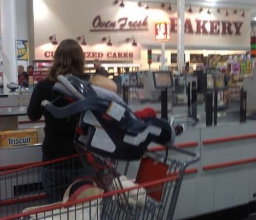 car seat shopping cart