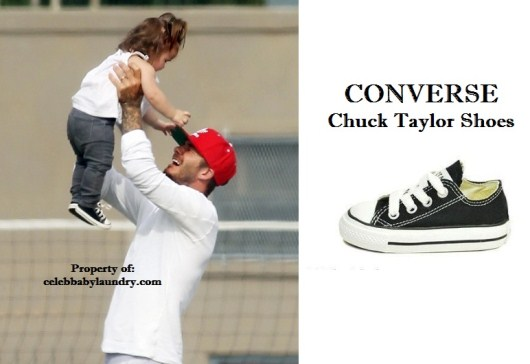 Celeb Baby Style: Harper Beckham In Converse Chuck Taylor Shoes