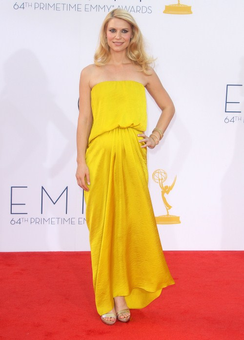 Claire Danes at The 64th Primetime Emmy Awards held at The Nokia Theatre L.A.Live in Los Angeles, California on September 23rd, 2012.